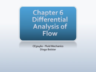 Chapter 6 Differential Analysis of Flow