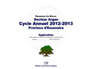 Cycle Annuel 2012-2013 Province d'Essaouira