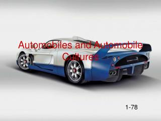 Automobiles and Automobile Cultures