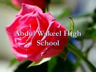 Abdul Wakeel High School