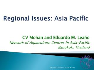 R egional Issues: Asia Pacific