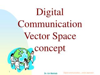 Digital Communication Vector Space  concept