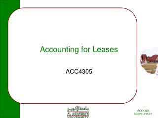 Accounting for Leases