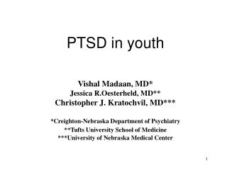 PTSD in youth