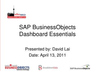 SAP BusinessObjects Dashboard Essentials