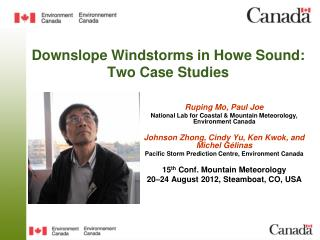 Downslope Windstorms in Howe Sound: Two Case Studies