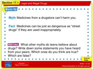 Myth  Medicines from a drugstore can't harm you.