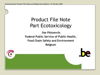 Product File Note Part Ecotoxicology