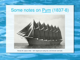 Some notes on  Pym  (1837-8)