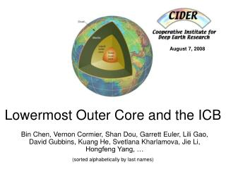 Lowermost Outer Core and the ICB