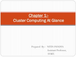 Chapter 1:- Cluster Computing At Glance