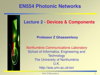 EN554 Photonic Networks