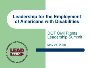 Leadership for the Employment of Americans with Disabilities