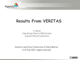 Results From VERITAS
