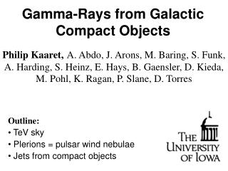 Gamma-Rays from Galactic Compact Objects