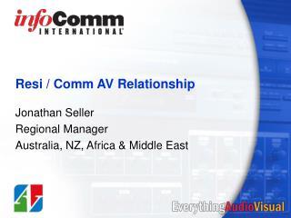 Resi / Comm AV Relationship
