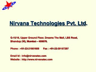 Nirvana Technologies Pvt. Ltd .