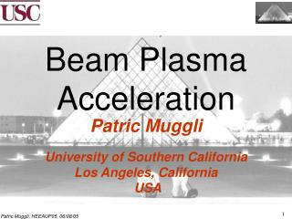 Beam Plasma Acceleration