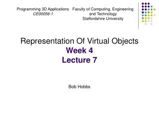 Programming 3D Applications CE00056-1