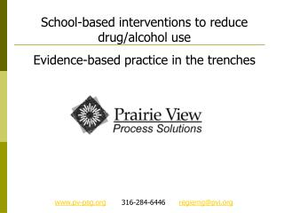 School-based interventions to reduce drug/alcohol use Evidence-based practice in the trenches