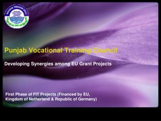 Punjab Vocational Training Council Developing Synergies among EU Grant Projects