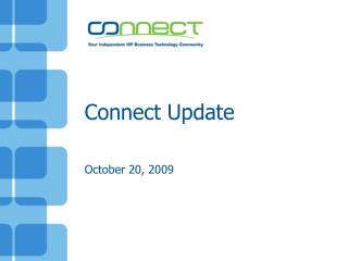 Connect Update  October 20, 2009