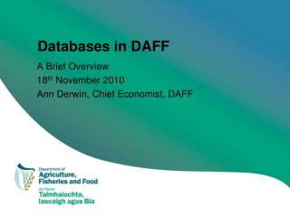 Databases in DAFF