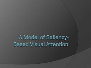 A Model of Saliency-Based Visual Attention
