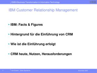 IBM Customer Relationship Management