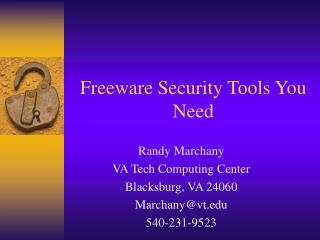 Freeware Security Tools You Need