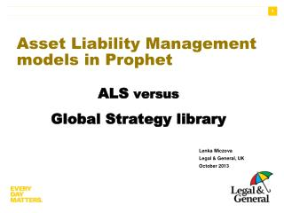 Asset Liability Management models in Prophet