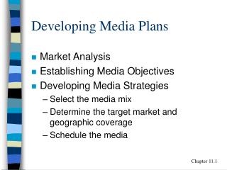Developing Media Plans