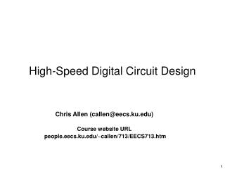 High-Speed Digital Circuit Design