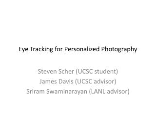 Eye Tracking for Personalized Photography