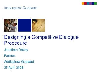 Designing a Competitive Dialogue Procedure