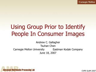 Using Group Prior to Identify People In Consumer Images