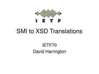 SMI to XSD Translations