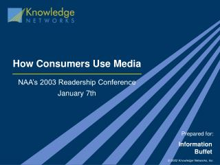 How Consumers Use Media