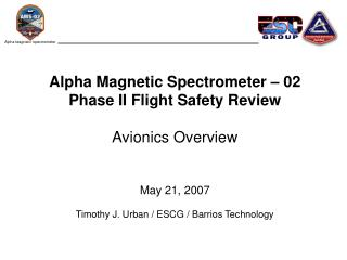 Alpha Magnetic Spectrometer – 02 Avionics Outline