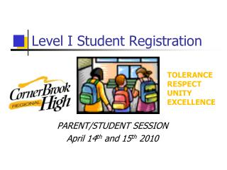Level I Student Registration