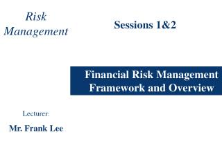 Financial Risk Management Framework and Overview