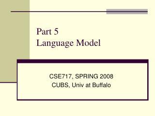 Part 5 Language Model