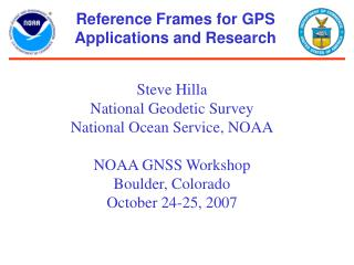 Reference Frames for GPS Applications and Research