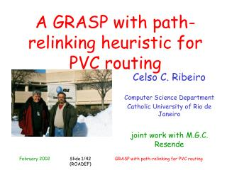 A GRASP with path-relinking heuristic for PVC routing
