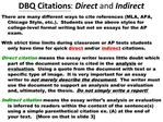 DBQ Citations: Direct and Indirect
