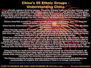 China's 56 Ethnic Groups -  Understanding China