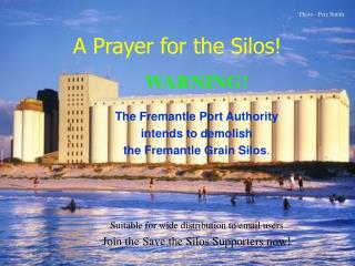A Prayer for the Silos!