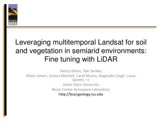 Leveraging multitemporal Landsat for soil and vegetation in semiarid environments: Fine tuning with LiDAR