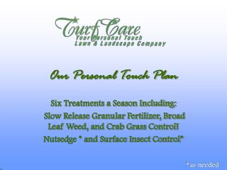 Our Personal Touch Plan