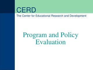 CERD The Center for Educational Research and Development